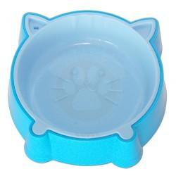 Eastland - Eastland Kulaklı Plastik Mavi Kedi Mama ve Su Kabı
