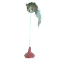 Eastland - Eastland CT200555 Vantuzlu Plastik Saplı Peluş Kedi Oyuncağı 15 Cm