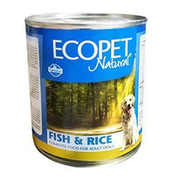 EcoPet - Ecopet Natural Balık ve Pirinçli Köpek Konservesi 300 Gr