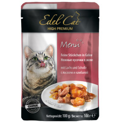 Edel Cat - Edel Cat Pouch Jel Somon ve Dil Balıklı Kedi Yaş Maması 100 Gr