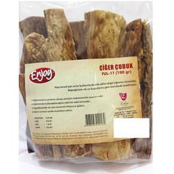 EnJoy Premium - Enjoy Kurutulmuş Doğal Ciğer Çubuk Köpek Ödülü 100 Gr