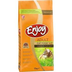 EnJoy Premium - Enjoy Multi Color Tavuk Etli Renkli Yetişkin Kedi Maması 15 Kg