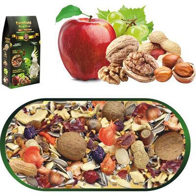 Euro Gold Deluxe Blend Fruits & Nuts Meyveli ve Kuruyemişli Papağan Yemi 650 Gr