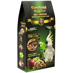EuroGold - Euro Gold Deluxe Blend Fruits & Nuts Meyveli ve Kuruyemişli Papağan Yemi 650 Gr