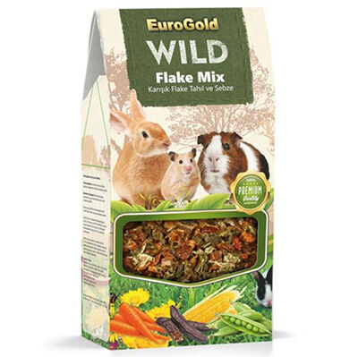 Euro Gold Wild Kemirgenler İçin Karışık Tahıl ve Sebze Flake Mix 120 Gr