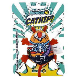 Euro Cat - EuroCat Turuncu Tombik Fare Catnip (Kedi Otu) Kedi Oyuncağı 9 Cm
