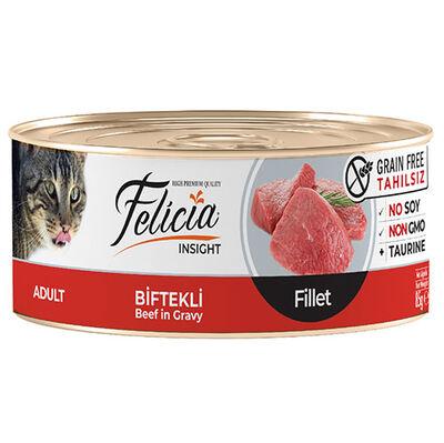 Felicia Biftek Etli Fileto Tahılsız Kedi Konservesi 85 Gr