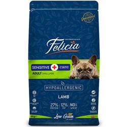 Felicia - Felicia Düşük Tahıllı Kuzu Etli Küçük Irk Köpek Maması 6 Kg + 10 Adet Temizlik Mendili