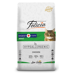 Felicia - Felicia Düşük Tahıllı Yetişkin Tavuklu ve Hamsili Kedi Maması 12 Kg