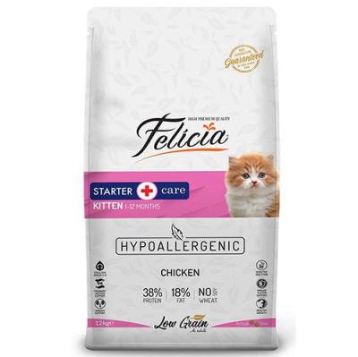Felicia Kitten Düşük Tahıllı Tavuk ve Hamsi Yavru Kedi Maması 12 Kg + 10 Adet Temizlik Mendili