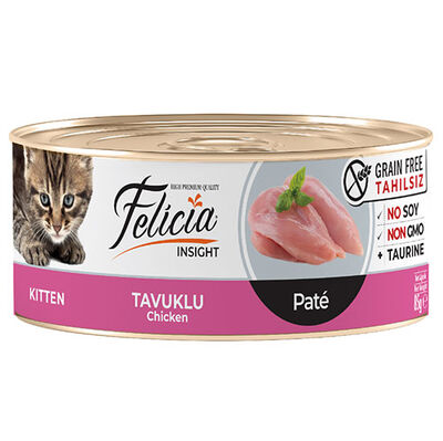 Felicia Kitten Tavuk Etli Pate Tahılsız Yavru Kedi Konservesi 85 Gr