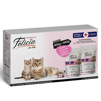 Felicia Mother / Kitten Düşük Tahıllı Yavru Kuzu Etli Kedi Maması 500 Gr + 500 Gr