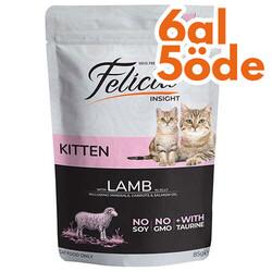 Felicia - Felicia Pouch Kitten Kuzu Etli Yavru Tahılsız Kedi Yaş Maması 85 Gr - 6 Al 5 Öde