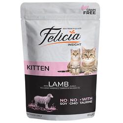 Felicia - Felicia Pouch Kitten Kuzu Etli Yavru Tahılsız Kedi Yaş Maması 85 Gr