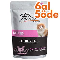 Felicia - Felicia Pouch Kitten Tavuk Etli Yavru Tahılsız Kedi Yaş Maması 85 Gr - 6 Al 5 Öde