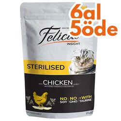 Felicia - Felicia Pouch Sterilised Tavuk Etli Tahılsız Kısırlaştırılmış Kedi Yaş Maması 85 Gr - 6 Al 5 Öde
