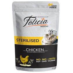 Felicia - Felicia Pouch Sterilised Tavuk Etli Tahılsız Kısırlaştırılmış Kedi Yaş Maması 85 Gr