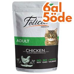 Felicia - Felicia Pouch Tavuk Etli Tahılsız Kedi Yaş Maması 85 Gr - 6 Al 5 Öde