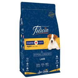 Felicia - Felicia Puppy Düşük Tahıllı Küçük Irk Kuzu Etli Yavru Köpek Maması 3 Kg + 5 Adet Temizlik Mendili