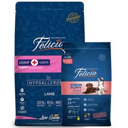 Felicia - Felicia Puppy Düşük Tahıllı Kuzu Etli Büyük Irk Yavru Köpek Maması 15+3 Kg