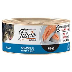 Felicia - Felicia Somon Balıklı Fileto Tahılsız Kedi Konservesi 85 Gr