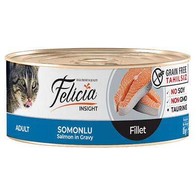 Felicia Somon Balıklı Fileto Tahılsız Kedi Konservesi 85 Gr