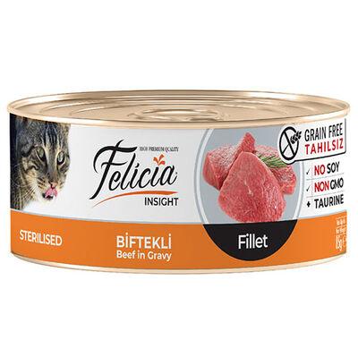 Felicia Sterilised Biftek Etli Fileto Tahılsız Kısırlaştırılmış Kedi Konservesi 85 Gr