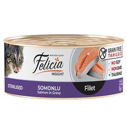 Felicia - Felicia Sterilised Somonlu Fileto Tahılsız Kısırlaştırılmış Kedi Konservesi 85 Gr