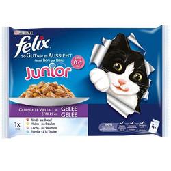 Felix - Felix Junior Multibox Yaş Yavru Kedi Maması 4 Adetx100 Gr (Avantajlı Paket)