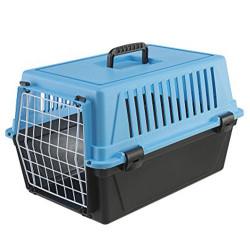Ferplast - Ferplast Atlas 10 Mavi Küçük Irk Köpek ve Kedi Taşıma Kafesi 48x32,5x29 Cm