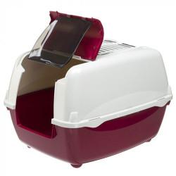 Ferplast - Ferplast Bella Cabrio Filtreli Kedi Tuvaleti 56x43,5x38 Cm (Bordo)