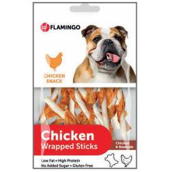 Flamingo - Flamingo 1030748 Chicken Wrapped Sticks Tavuk Etli Glutensiz Köpek Ödül Çubukları 65 Gr