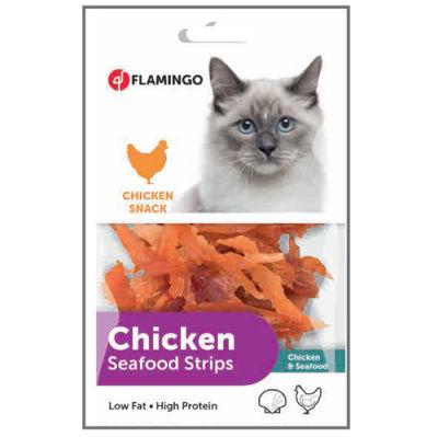 Flamingo 502932 Chicken Seafood Tavuk ve Balık Etli Snack Kedi Ödülü 85 Gr