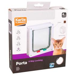 Karlie - Karlie 507514 Kilitli 4 Yönlü Kedi ve Köpek Kapısı 19,2 x 20 Cm (Beyaz)
