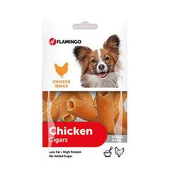 Flamingo - Flamingo 514120 Chicken Cigars Tavuk Etli Rulo Köpek Ödülü 85 Gr