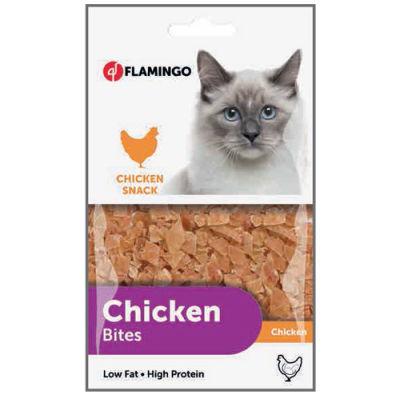 Flamingo 502937 Chicken Bites Tavuk Etli Naturel Kedi Ödülü 85 Gr