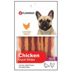 Flamingo - Flamingo 2010055 Chicken Duck Strips Tavuk Etli ve Ördekli Köpek Ödülü 85 Gr