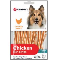 Flamingo - Flamingo 2010188 Chicken Fish Strips Tavuk ve Balık Etli Glutensiz Köpek Ödül Çubukları 85 Gr