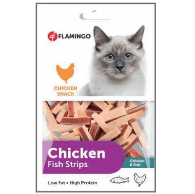 Flamingo 502933 Chicken Fish Strips Tavuk ve Balık Etli Kedi Ödülü 85 Gr
