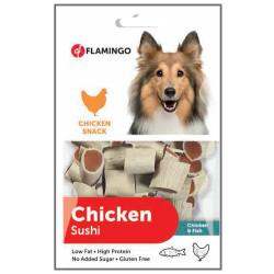 Flamingo - Flamingo 501467 Chicken Sushi Tavuk ve Balık Etli Glutensiz Köpek Ödülü 85 Gr