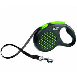 Flexi - Flexi Design Otomatik Yeşil Şerit Gezdirme Medium 5 Mt