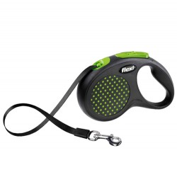 Flexi - Flexi Design Otomatik Yeşil Şerit Gezdirme Small 5 Mt