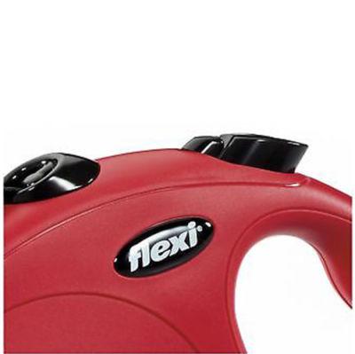 Flexi New Classic Otomatik Kırmızı Şerit Gezdirme Large 5 Mt