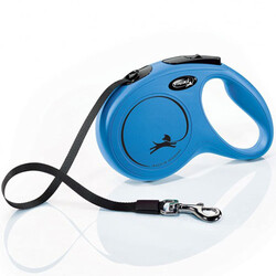 Flexi - Flexi New Classic Otomatik Mavi Şerit Gezdirme Large 8 Mt