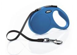 Flexi - Flexi New Classic Otomatik Mavi Şerit Gezdirme Medium 5 Mt
