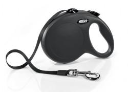 Flexi - Flexi New Classic Otomatik Siyah Şerit Gezdirme Large 5 Mt