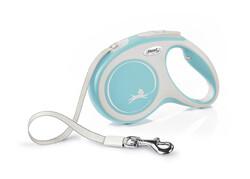 Flexi - Flexi New Comfort Otomatik Açık Mavi Şerit Gezdirme Medium 5 Mt
