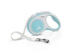 Flexi - Flexi New Comfort Otomatik Açık Mavi Şerit Gezdirme Small 5 Mt