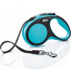 Flexi - Flexi New Comfort Otomatik Mavi Şerit Gezdirme Small 5 Mt