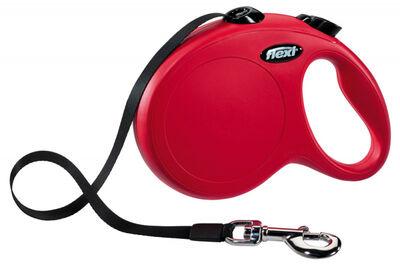 Flexi Yeni Klasik, Şerit Uzatma, M 5M Kırmızı